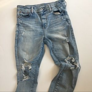 American Eagle High Rise Distressed Jeggings